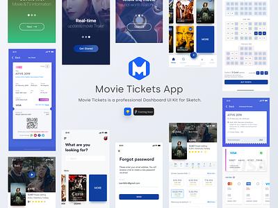 Movie Tickets App service finance onboard tickets movie app movie tickets mobile app figma sketch ux ui