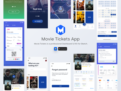 Movie Tickets App figmadesign free app daily ui typography sketch design clean ux minimal ui