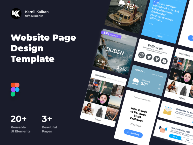 Website Page Design Template UI KIT - Figma
