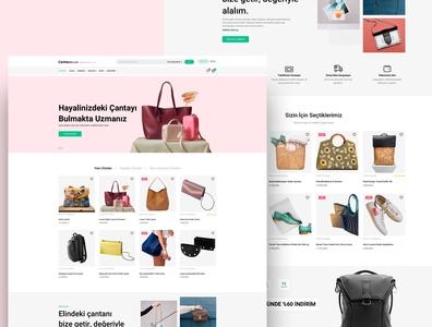 Cantalatte.com Ecommerce Web Page ecommerce website ecommerce shop web design web page sketch typography design clean ux ui