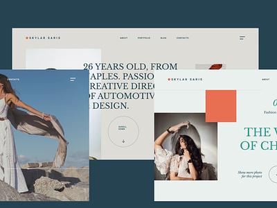 Personal Portfolio Site designed with Figma freebies personal figmadesign ux typography design ui minimal