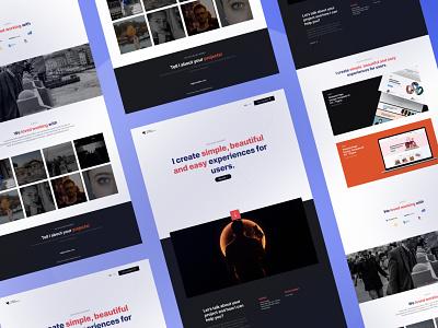 Portfolio Design - kamilklkn.com freebies figma typography branding portfolio design design portfolio