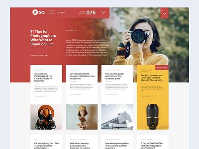 Photography Magazine Design website web typography minimal photography magazine design web site webdesign ux design ui design freebie typogaphy design blog design blog figmadesign redesign concept art concept conon