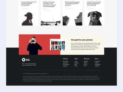 Photography Magazine Design cards ui blog card blog post news web design website dailyui photos paid magazine figma design typography design minimal freelancer freelance web page design web pages blog design freebies