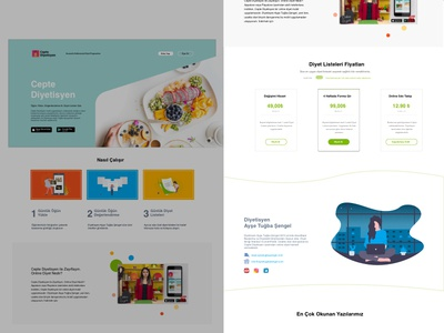 Landing Web Page | ceptediyetisyen.com | Daily UI 3