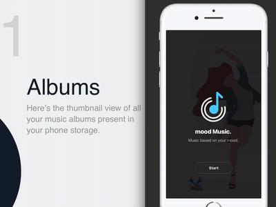 Visual Exploration | Music Player  | Daily UI 9 branding animation ux typography design dailyui minimal app ui players free prototype free framer x clean music player