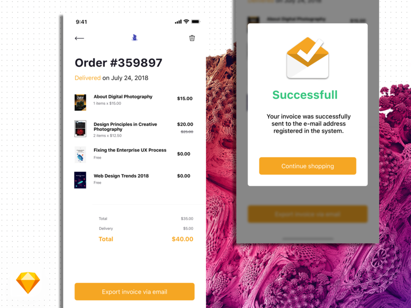 Visual Exploration | Flash Messages  | Daily UI 11 book app order ui app free daily ui typography clean sketch minimal modal popup flash message 011 dailyui