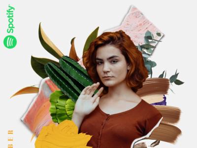 Spotify Playlist Cover | 21  November 2018 digital art collageart collage playlist cover spotify cover spotify playlist minimal illustration clean logo typography