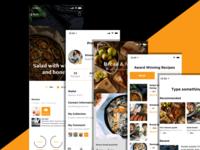 Recipe App | Free Invision Studio File