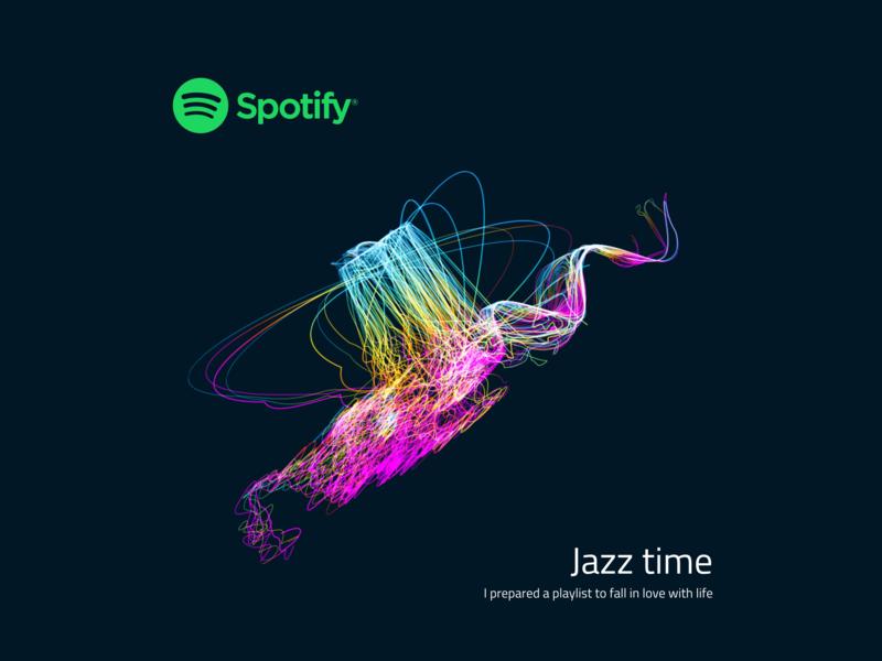 Spotify Playlist Cover   Jazz Time minimal design dailyui free sketch music jazz spotify cover spotify ui