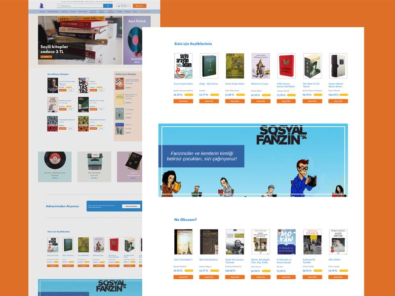 Sosyal Sahaf - E-commerce Web Page design ui design ux design ux uı xd design sahaf e-ticaret minimal e-commerce website e-commerce antiquarian