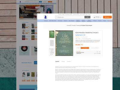 Sosyal Sahaf - E-commerce Web Page | Product Detail Page