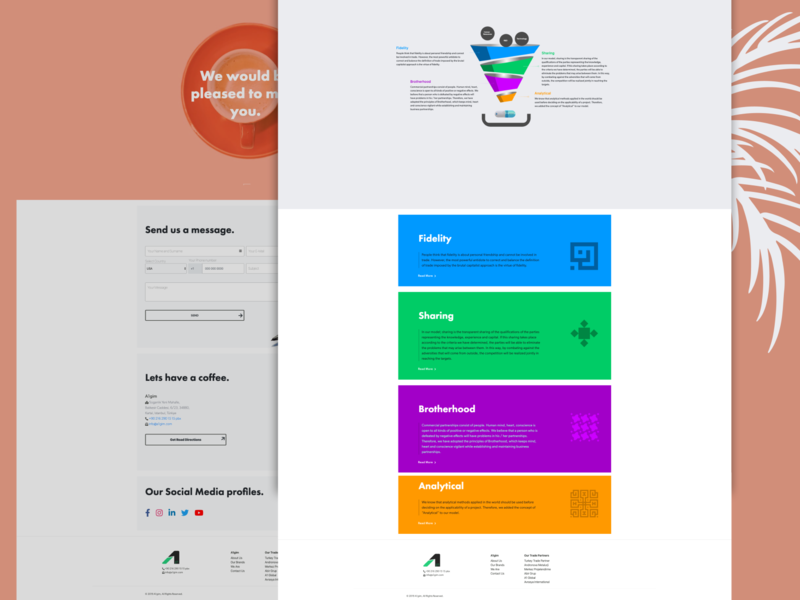 A1gim Landing Page branding typography illustration ux design minimal