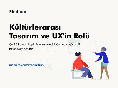 Kültürlerarası Tasarım ve UX'inRolü vector ux ui post minimal design product design illustration medium