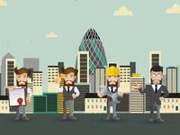 Pitch the Boss cartoon characters illustrations character design character art illustrator animation web vector branding design illustration