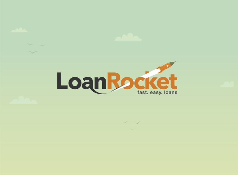 Loan Rocket logo illustraion cartoon animation illustration design art branding agency brand identity brand design design