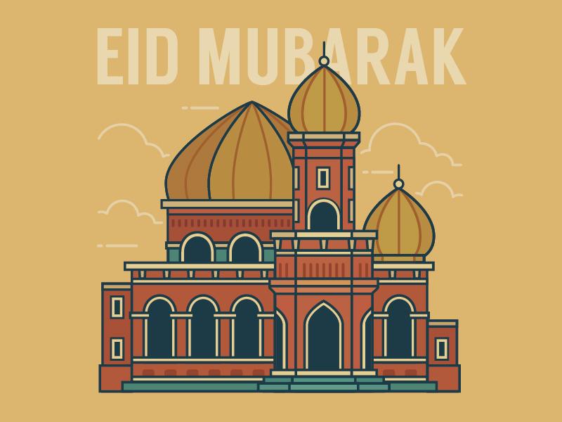 Eid Mubarak 1435H muslim mosque eid mubarak building