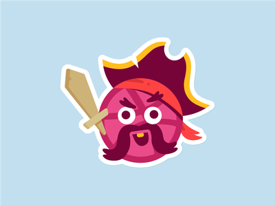 Aye Aye Captain ! sword funny character icon illustration playground cute pirates