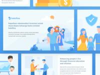Set Illustrations of Halofina App
