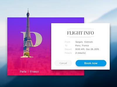 Flight booking UI alphabet travel statue of liberty eiffel new york paris flight media booking ux ui