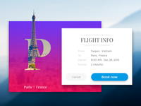 Flight booking UI