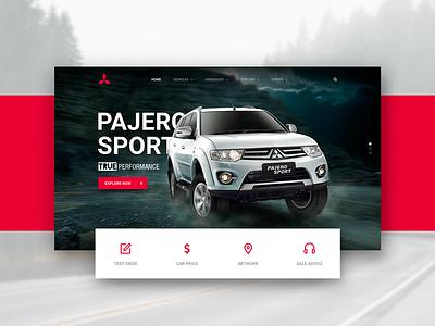Mitsubishi Motors website corporate wip redesign landing page car motors website ux ui