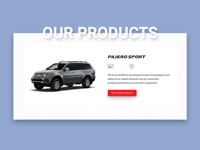 Test Drive - Product Preview product redesign website test drive motors mitsubishi car ux ui
