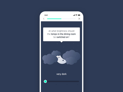 Brightness control for smart home app digital branding brand experience user experience smart home app mobile app smart home ui controls gamification user interface uxui ux product design