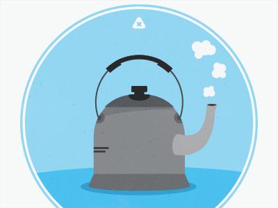 Tea Kettle tea micah micahmicahdesign micahburger vector blue kettle