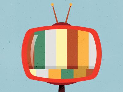 Retro Tv retro vintage television micah micahmicahdesign micahburger vector orange tv