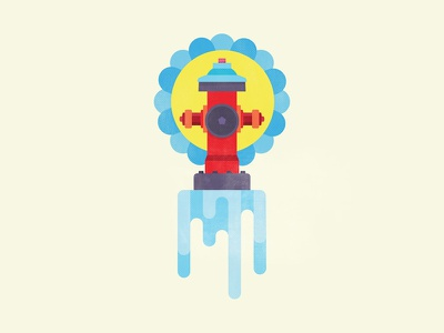 Summer Fire Hydrant illustration micahburger fire hydrant fire water summer
