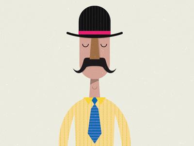 Gentleman micahburger micahmicahdesign vector character gentleman top hat mustache ohio toledo