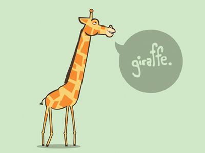 Giraffe Logo 3 micahburger micahmicahdesign giraffe vector character