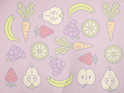 Spring Pattern fruit illustration micahburger vector pattern carrots
