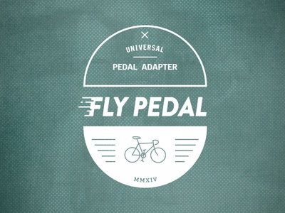 Fly Pedal  branding logo illustration flypedal