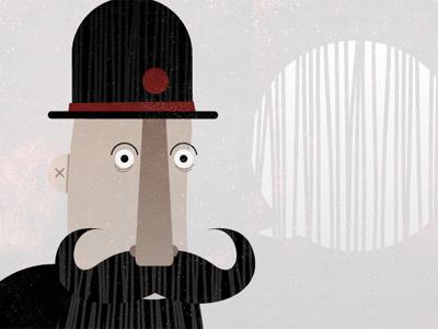 The Bearded Man. micahmicahdesign micahburger vector illustration beards micahdesign devicious