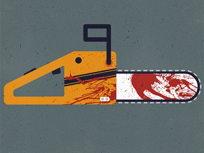 Chainsaws are for cutting off body parts. micahmicahdesign micahburger vector illustration chainsaw