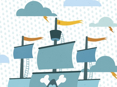 Ship in progress micahmicahdesign micahburger vector illustration ship pirates