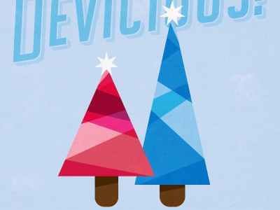 Cool Trees-Winter Series micahmicahdesign micahburger vector character christmas trees