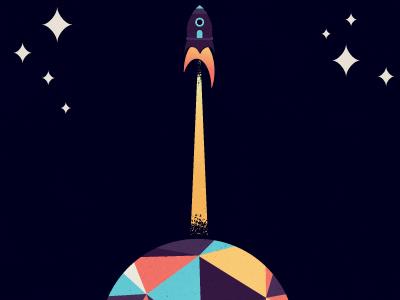 Star Planet micahmicahdesign micahburger vector character space stars planet spaceship moon