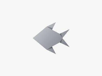 Fish illustration design vector origami fish