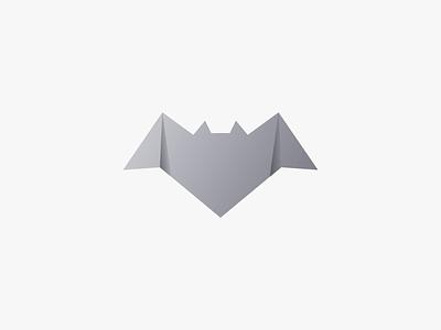 Bat illustration design vector origami bat