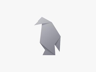 Penguin illustration design vector origami penguin