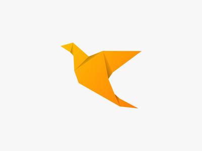Bird illustration design vector origami bird