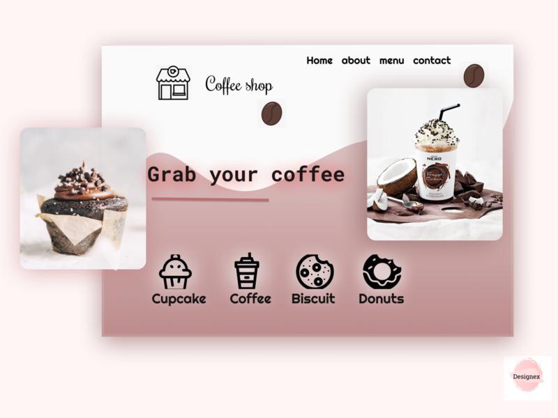 Coffe shop illustrator art website minimal ui web illustration design app ux