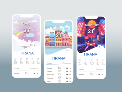 weather App graphic design art website ui minimal illustrator design app ux illustration