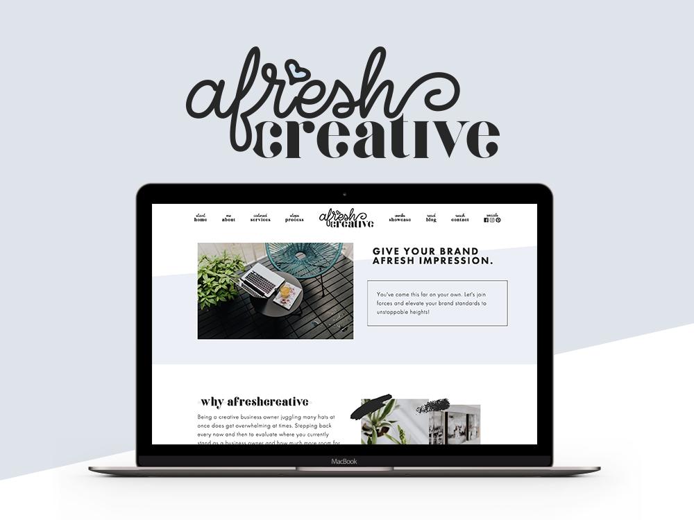 afresh creative branding web design