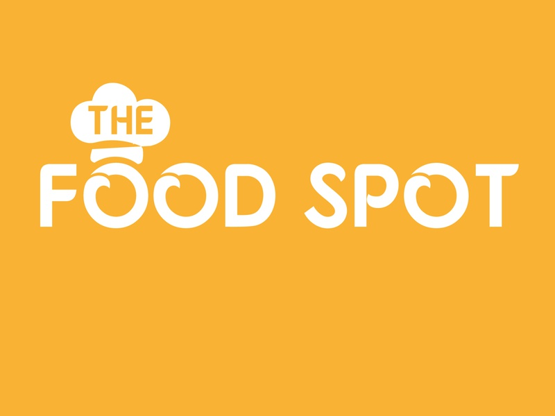 THe food spot logo flat background art illustrator beatuful design logo design concept branding brand identity brand design logo design graphic design