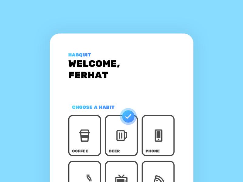 Zoomed in Habquit Mobile Application ux ui mobile application mobile app design mobile minimal habit tracker habit flat figma design app