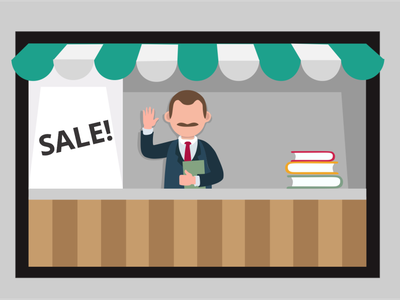 Edu as bussines business education lecture web vector minimal illustration flat design